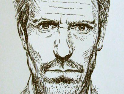 Dr House - portrety w różnych technikach graficznych