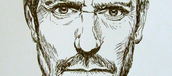 rysunek art penem dr house