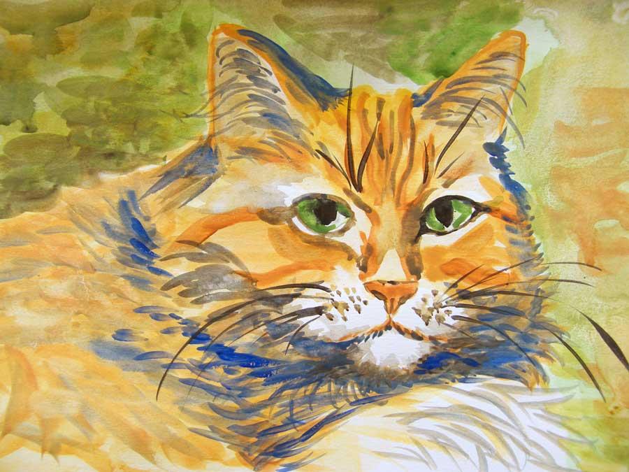 Akwarela - portrety kotów