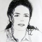 portret Michaela Jacksona - Małgorzata Jaskłowska