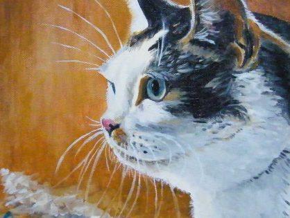 Moje obrazy olejne - portrety kotów i psów