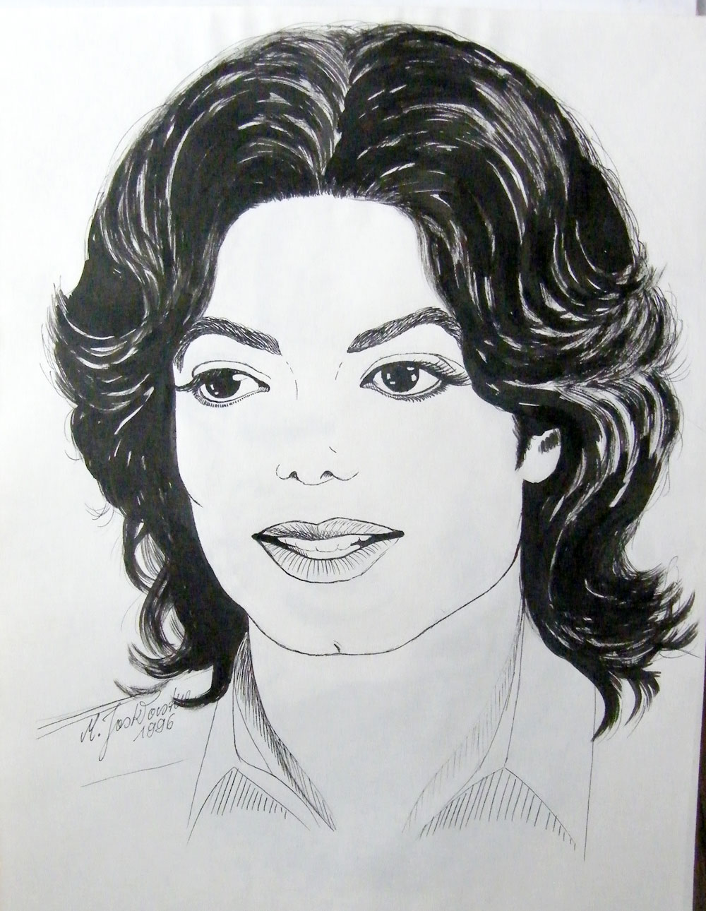how to draw michael jackson easy for kids
