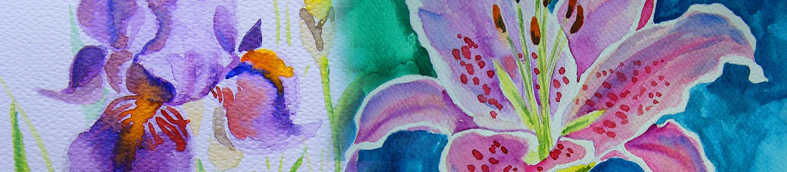 akwarela kwiaty małgorzata jaskłowska