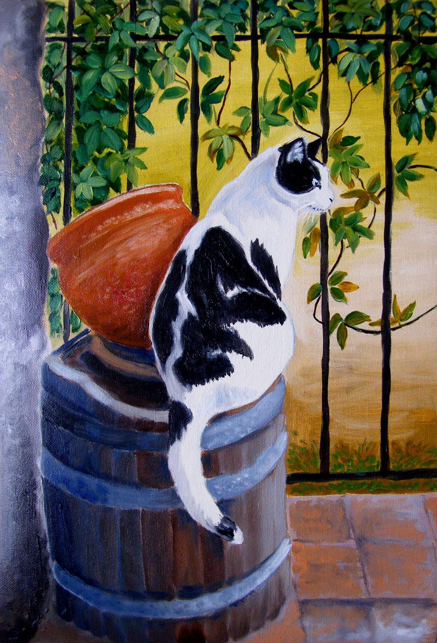 Patryk - obraz olejny Malgorzata Jaskłowska