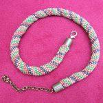 naszyjnik na szydełku, biżuteria ręcznie robiona