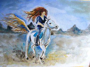 alwarela koń