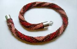 naszyjnik ukośnik, biżuteria ręcznie robiona