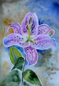 akwarela kwiaty malgorzata Jaskłowska