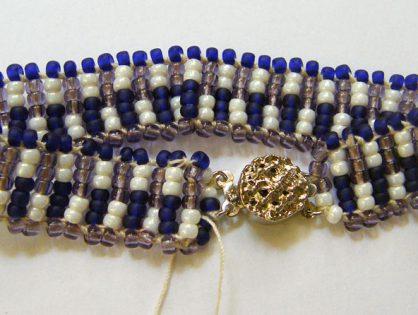 ręcznie robiona bransoletka z koralików toho