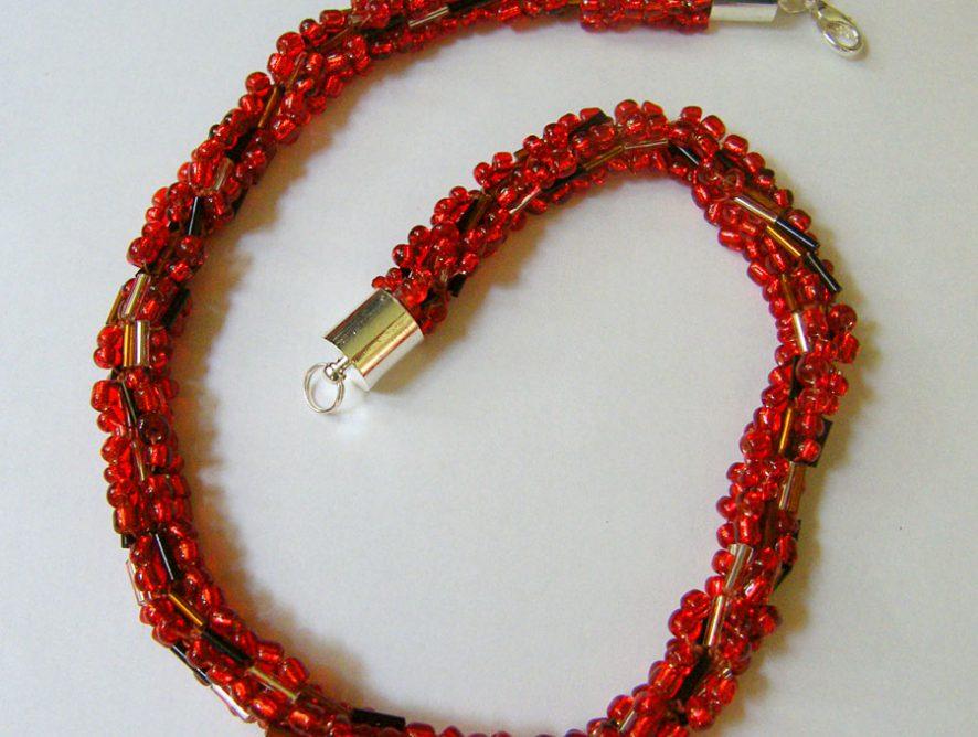 ręcznie robiona biżuteria, naszyjnik z koralików, naszyjnik turecki