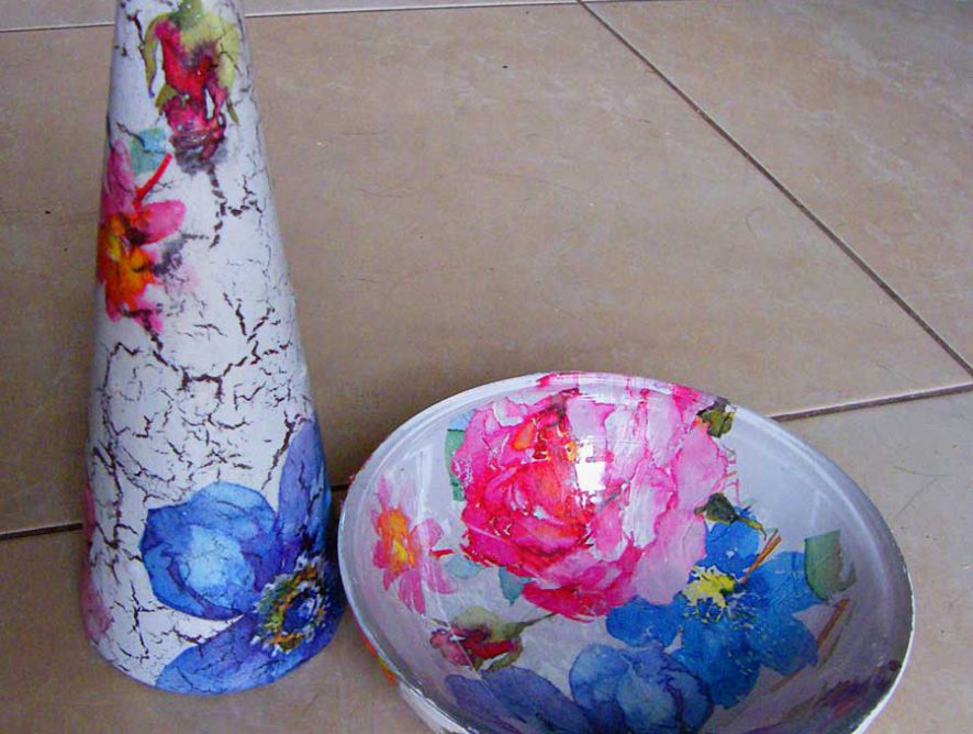 wazon decoupage