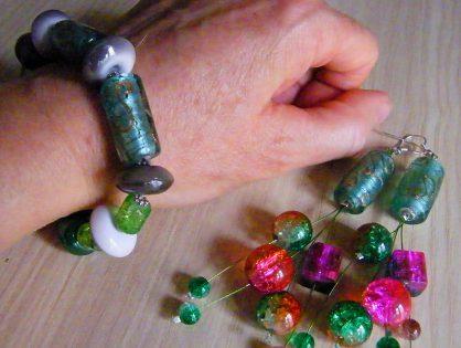 biżuteria ręcznie robiona, bransoletka z koralików malgorzata jaskłowska
