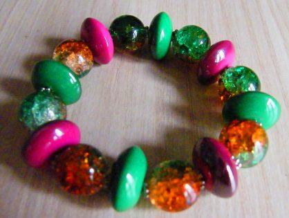 biżuteria ręcznie robiona, bransoletka na gumce, biżuteria ręcznie robiona, bransoletka na gumce, bransoletka z koralików na gumce malgorzata jaskłowska