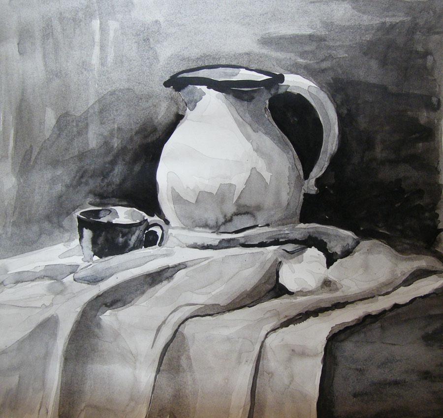 Obrazy malowane tuszem