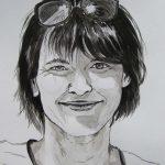 rysunek tuszem - portret tuszem