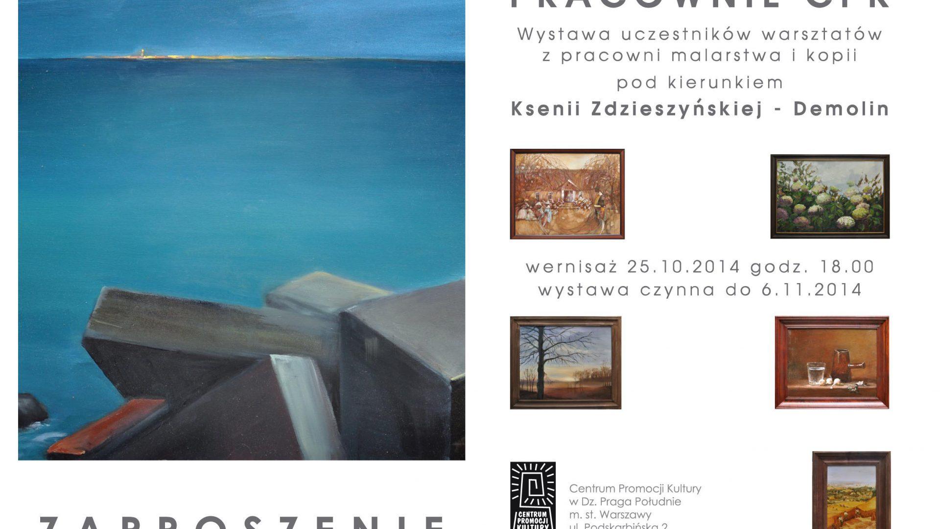 Wystawa prac malarskich pracowni malarstwa i kopii CPK w Warszawie
