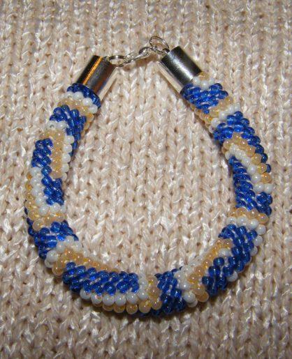 bransoletka z koralików toho, biżuteria ręcznie robiona
