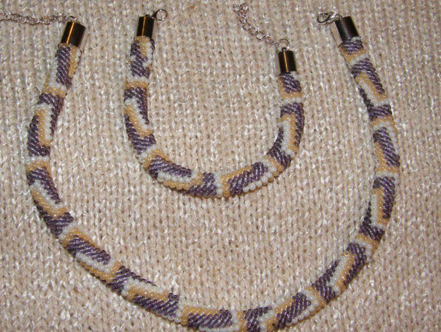 naszyjnik i bransoletka z koralików toho