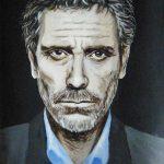 dr house portret obraz olejny
