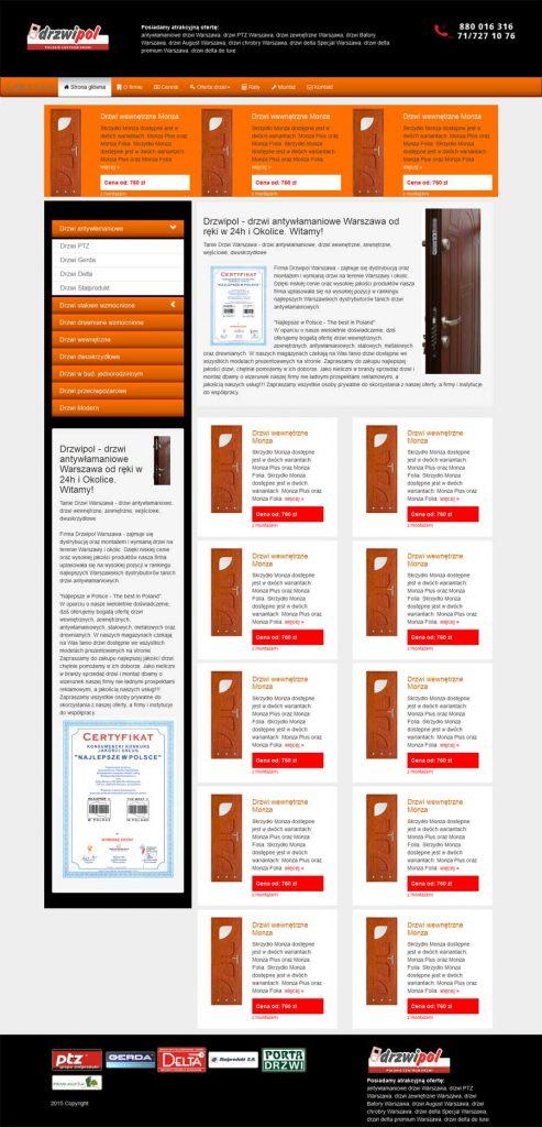 strona html