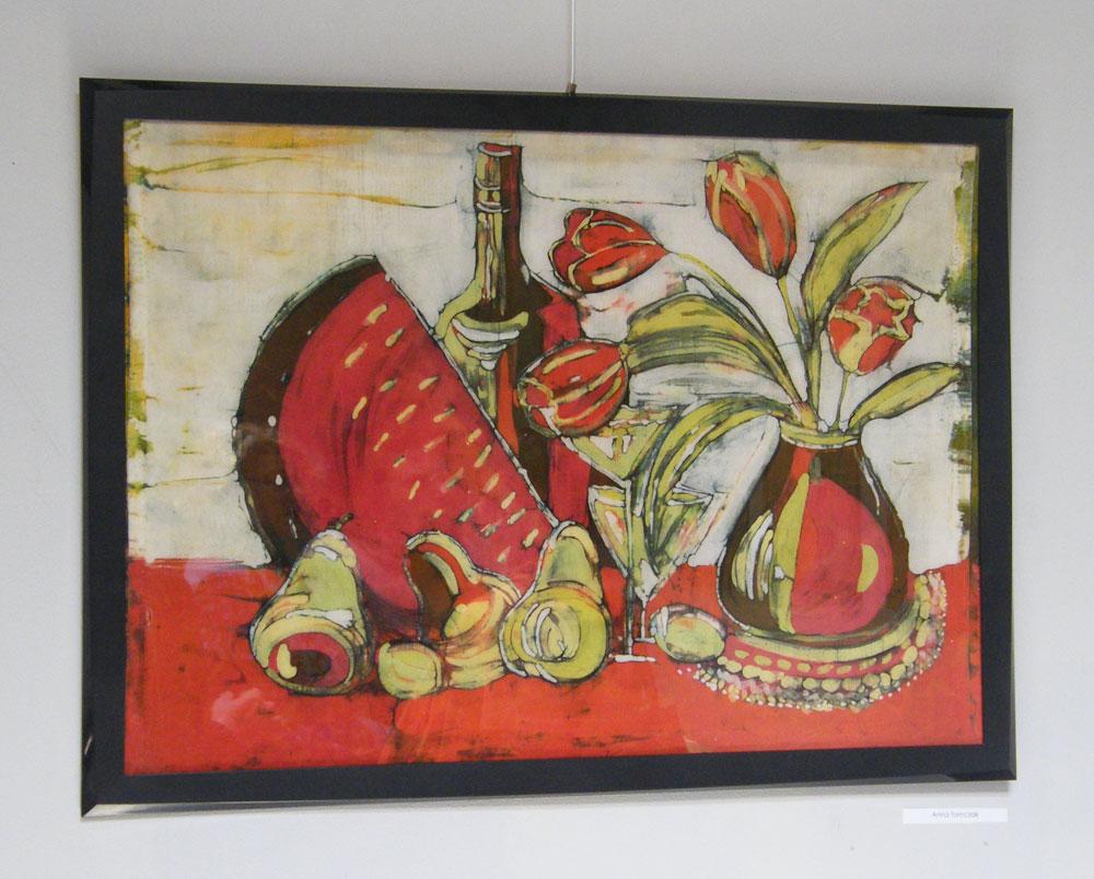 Wernisaż wystawy batiku, akwareli i obrazów olejnych