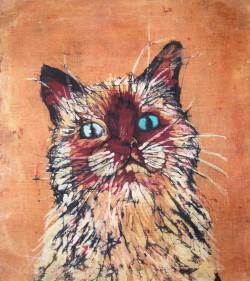 batik kot - małgorzata jaskłowska