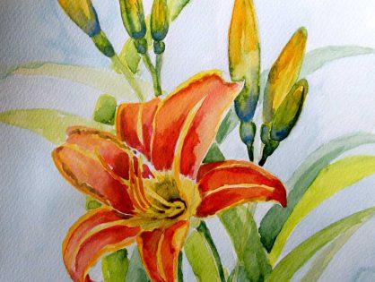 akwarela kwiaty - małgorzata jaskłowska