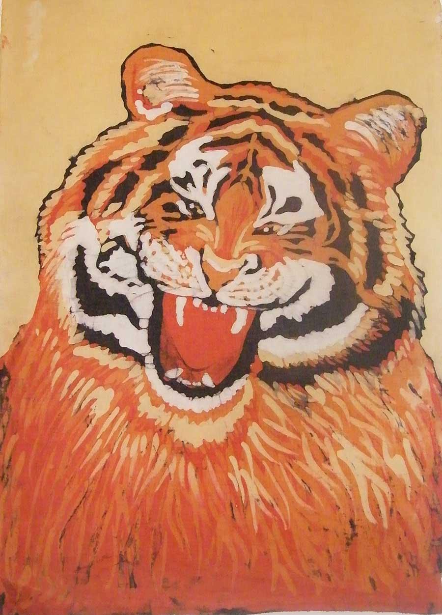 batik tygrys - małgorzata jaskłowska