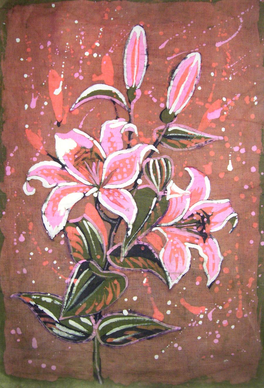 batik kwiaty - malgorzata jaskłowska