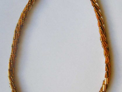 naszyjnik z koralików toho, biżuteria ręcznie robiona