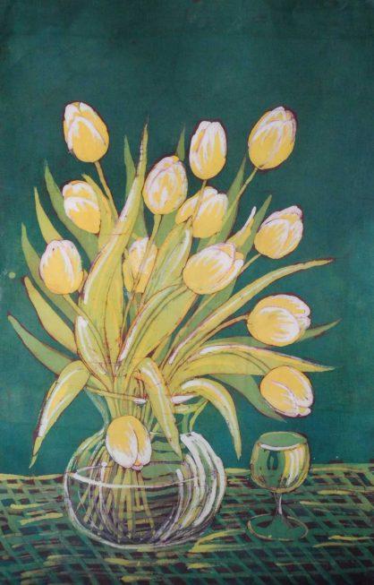 batik kwiaty - halina malgorzata jaskłowska
