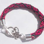 kumihimo - bransoletka ze sznurka satynowego