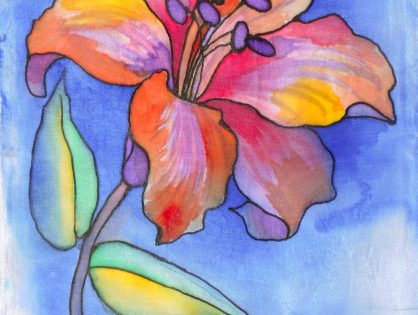 malowanie na jedwabiu