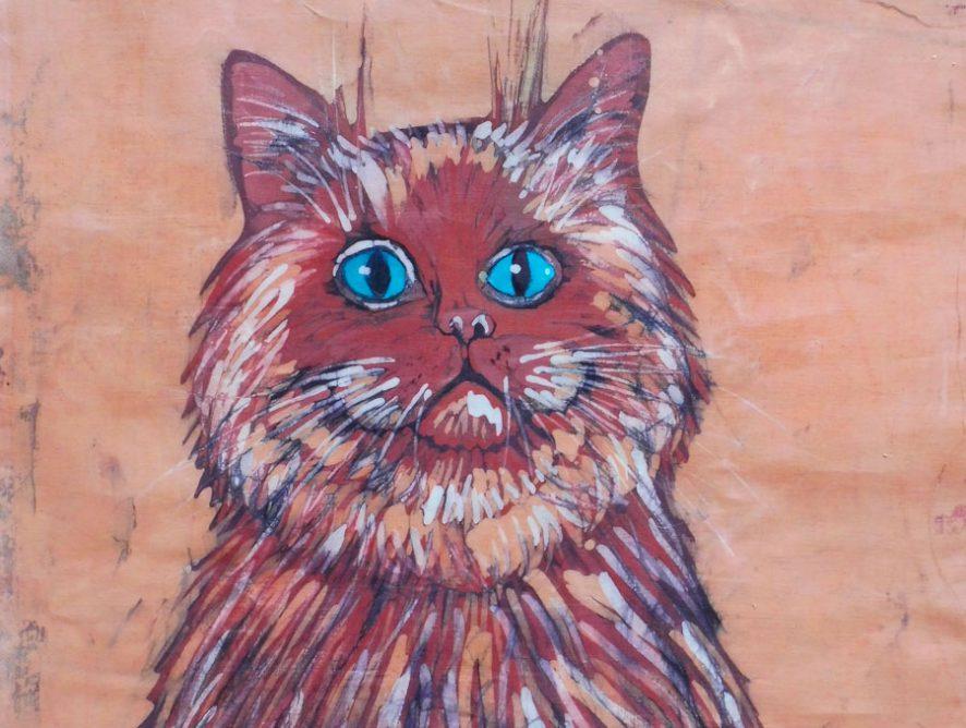 batik kot - halina jaskłowska