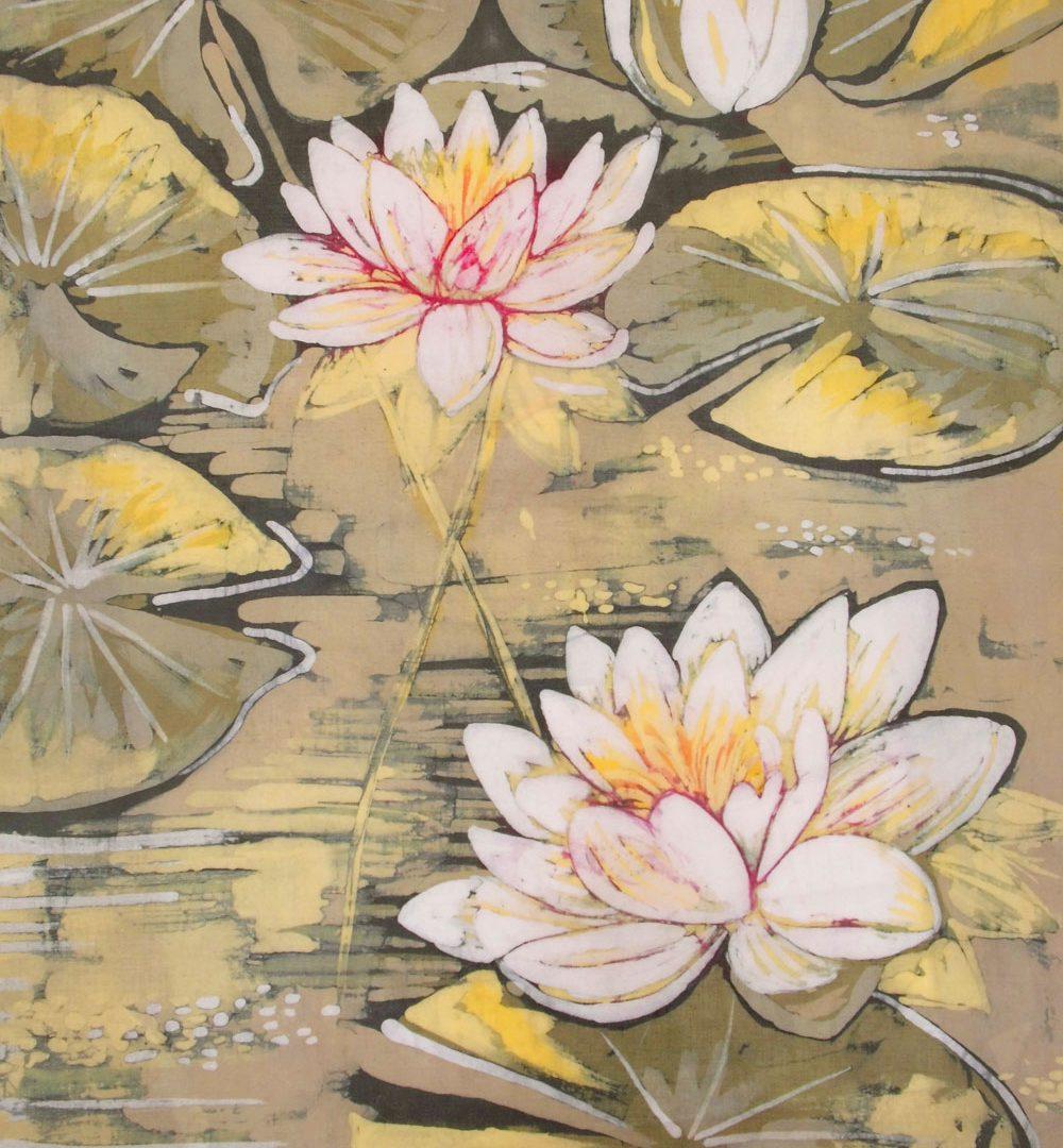 Lilie wodne batik
