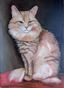 kot obraz olejny małgorzata Jaskłowska
