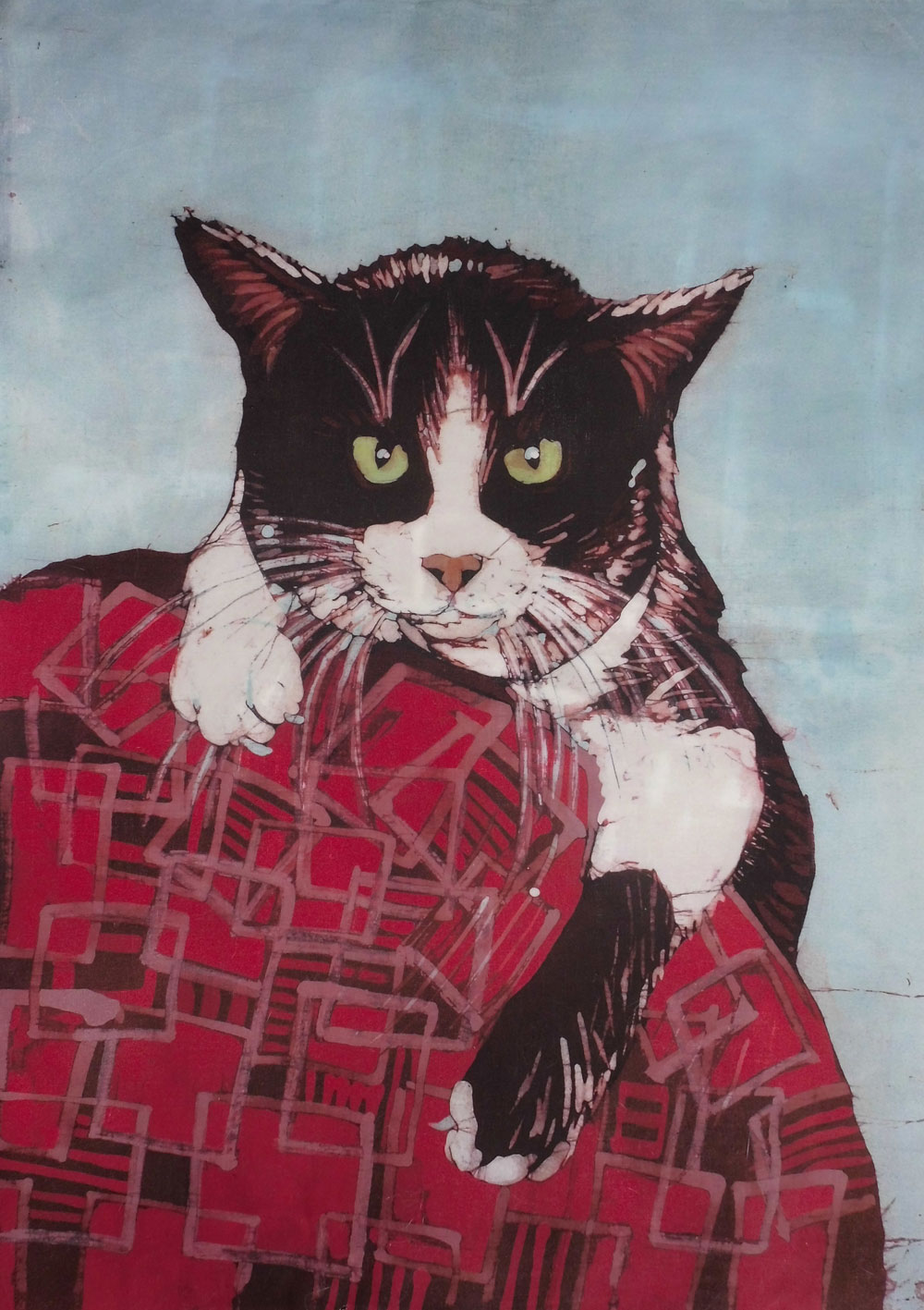 Halina Małgorzata Jaskłowska - batik kot
