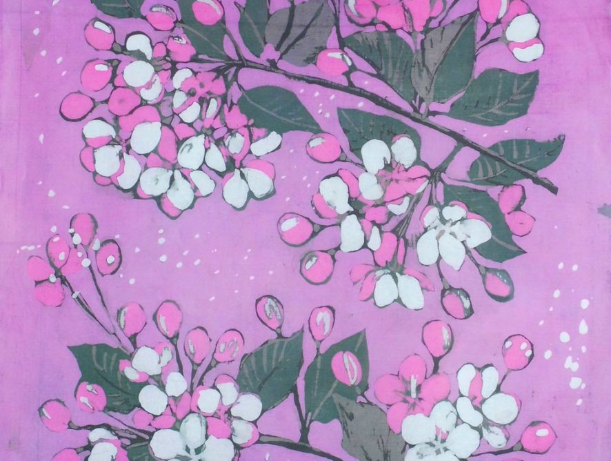 batik kwiaty