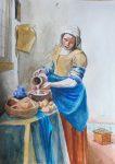vermeer mleczarka akwarlea