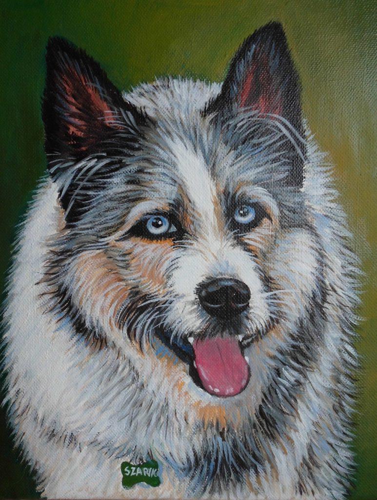 obraz olejny pies