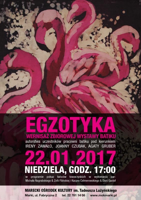 Wystawa batiku w Mareckim Ośrodku Kultury styczeń-luty 2017