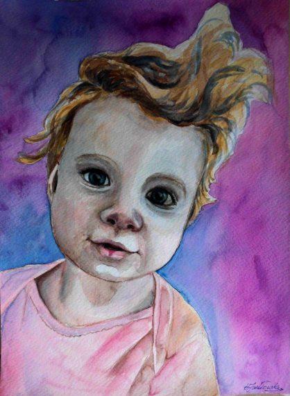 Dziecko - akwarela