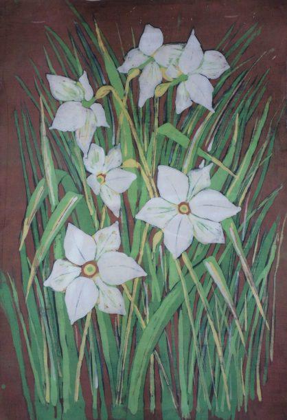 Batik kwiatowy