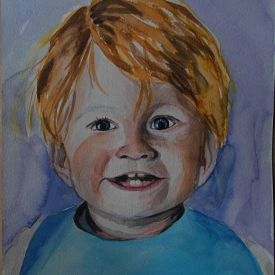 Portret dziecka – akwarela